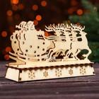 "Christmas decoration with lights ""Team"" 9,5х5х14 cm"