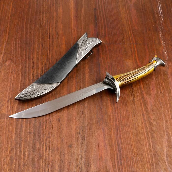 Сув. изделие кинжал, рукоять золото, клинок 24 см