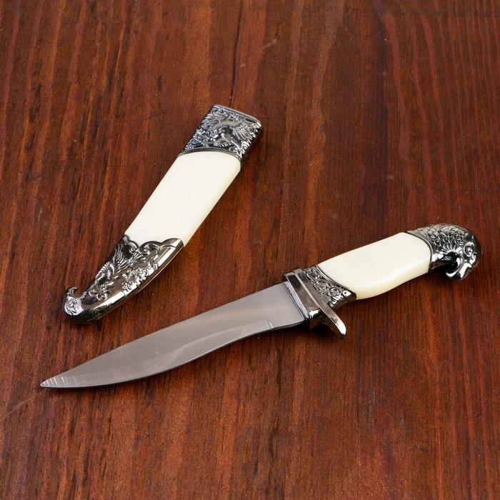 Сув. изделие нож, ножны серебро, слоновая кость, клинок 11 см