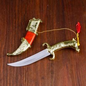 Сув. изделие нож, ножны серебро с красным, клинок 22 см Ош