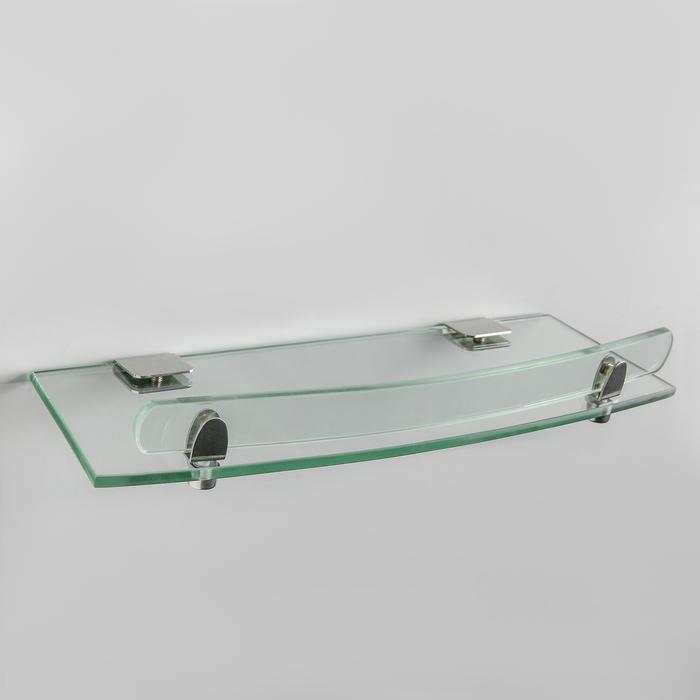 Полка для ванной комнаты, 42×12,6×4 см, металл, стекло