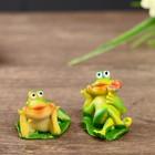 "Souvenir Polyresin ""Frog on leaf"" MIX 3,7x2,8x2,2 cm"