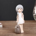 """Souvenir Polyresin """"Baby with bag-backpack"""" MIX 10,8x3,5x3,8 cm"""