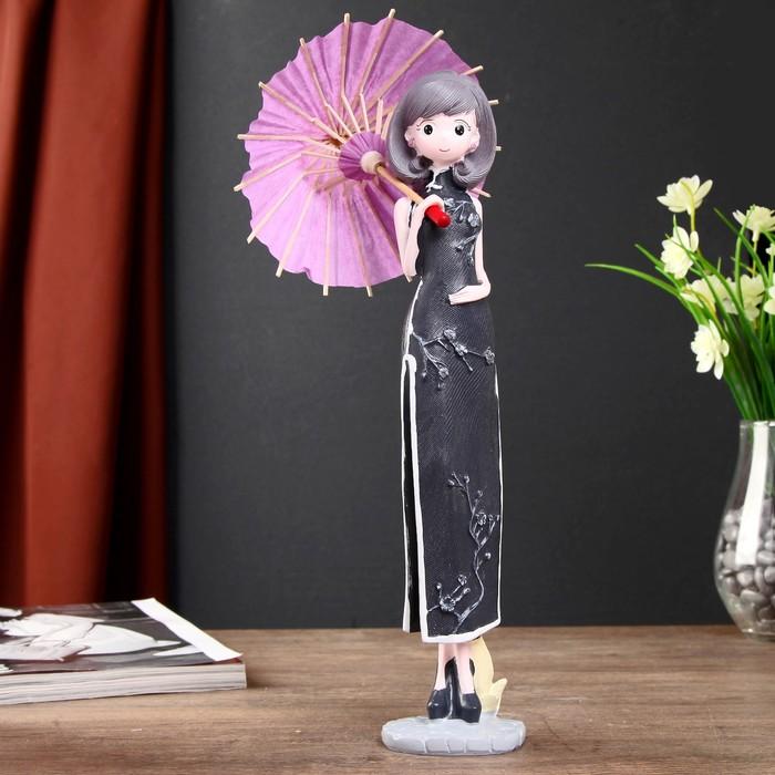"""Сувенир полистоун """"Девушка в традиционном платье, с китайским зонтиком"""" МИКС 31х13,5х10 см"""