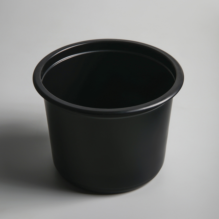 Контейнер круглый черный, 500 мл