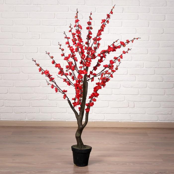 """Дерево искусственное """"Сакура"""" 110 см, красный"""