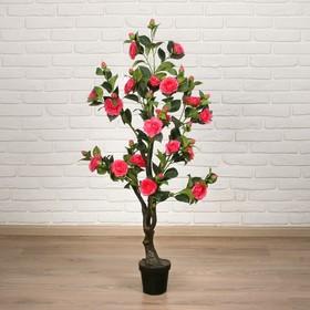 """Дерево искусственное """"Куст розы"""" 120 см, малиновый"""