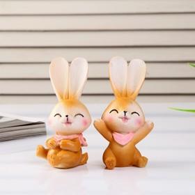 "Souvenir Polyresin ""a Cute Bunny with a scarf on the neck"" MIX 10,3x4,5x4 cm"