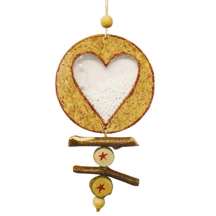 Набор для творчества - создай ёлочное украшение «Сердечко со снегом»
