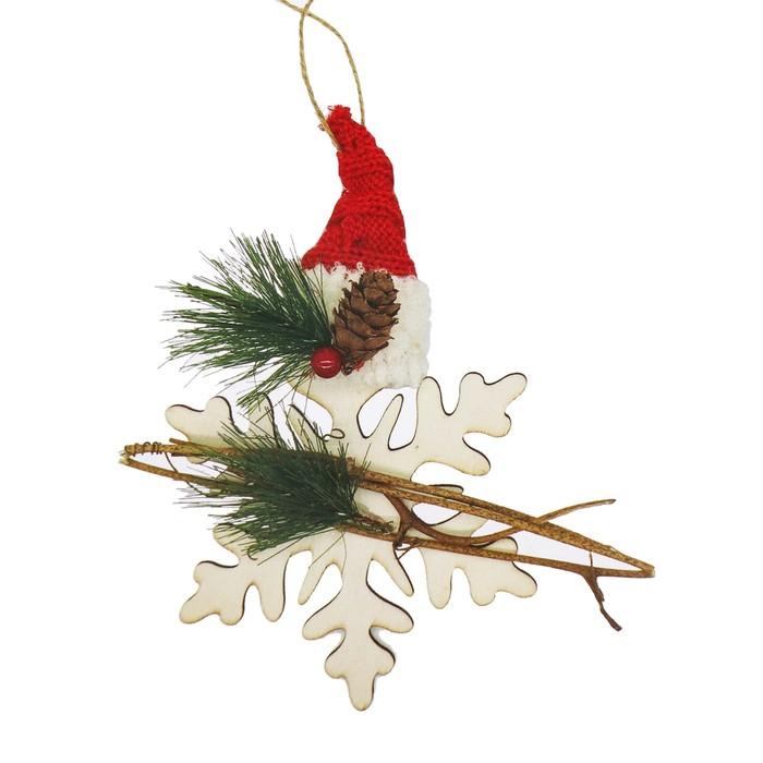 Набор для творчества - создай ёлочное украшение «Снежинка в шапочке»