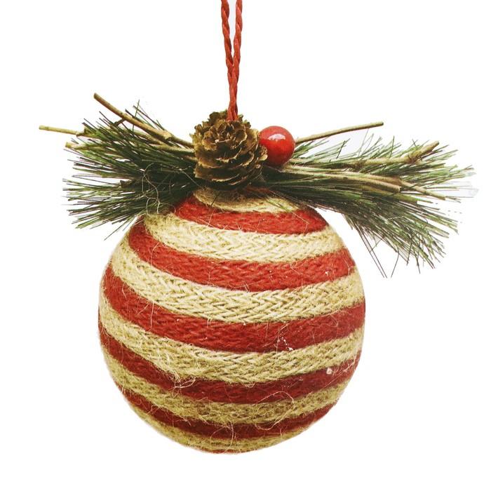 Набор для творчества - создай ёлочное украшение «Полосатый шар»
