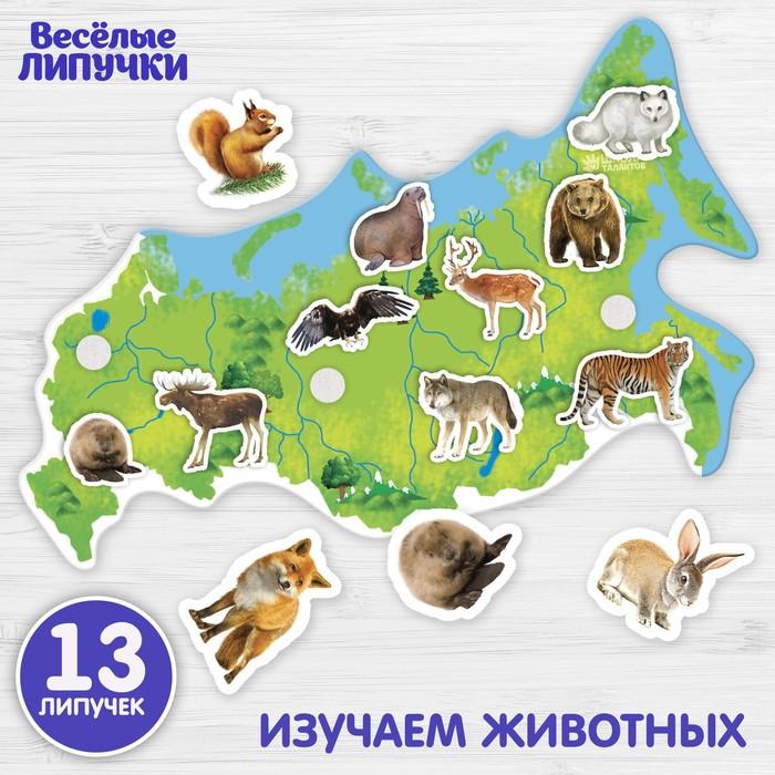 Игры на липучках «Животные России» МИНИ