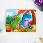Пазл «Динозавры» 12 элементов 0,4×14,5×11 см