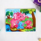 """Puzzle """"Elephants"""" 12 elements 0,4х14,5x11 cm"""