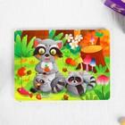 """Puzzle """"Raccoons"""" 12 elements 0,4х14,5x11 cm"""