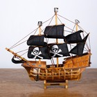 Ship FJ3422А, 33х8х29см, pirate, black sails