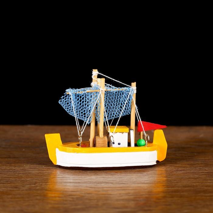 Корабль «Токива» 8х7х3см, микс 4 цвета