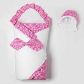 Комплект для новорожденного (с бабочкой) «Маэстро», цвет розовый