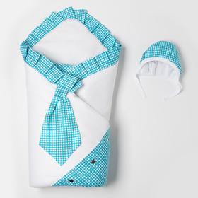 Комплект для новорожденного (с галстуком) «Незнайка», цвет голубой