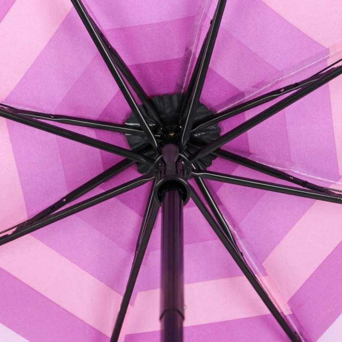 """Зонт механический """"Полоска"""", R=53см, цвет сиренево-фиолетовый"""