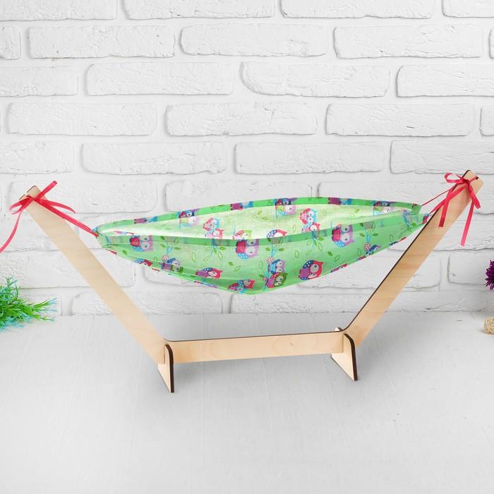 """Люлька для куклы """"Совята на зеленом """", размер спального места 54*33см"""
