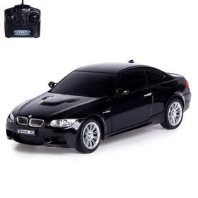 Машина радиоуправляемая BMW M3, 1:24, работает от батареек, свет, цвет чёрный