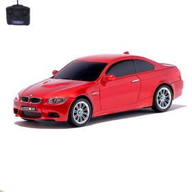Radio-controlled car BMW M3, 1:24, battery operated, light red.