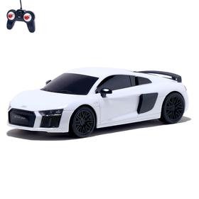 Машина радиоуправляемая Audi R8, 1:24, работает от батареек, свет, цвет белый