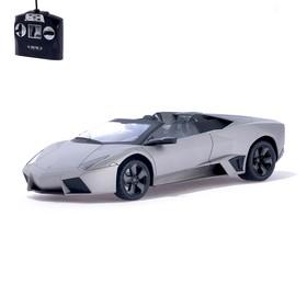 Машина радиоуправляемая Lamborghini Reventon, 1:14, работает от аккумулятора, свет, цвет серый