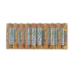 "Батарейка солевая ""Трофи"" Heavy Duty, AAA, R03-10S, 1.5В, спайка, 10 шт."