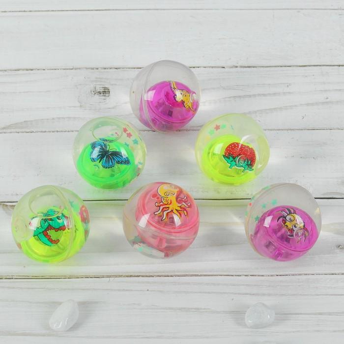 УЦЕНКА Мяч световой, с водой, 4 см, виды МИКС