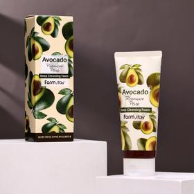 Очищающая пенка для лица FarmStay, с экстрактом авокадо, 180 мл