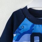 "Свитшот Крошка Я ""Little hero.№1"", синий, 30 р, 98-104 см - фото 105711876"