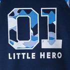 """Джемпер Крошка Я """"Little hero"""", синий, 24 р, 68-74 см - фото 105711882"""