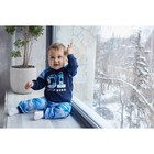 """Джемпер Крошка Я """"Little hero"""", синий, 24 р, 68-74 см - фото 105711885"""