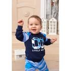 """Джемпер Крошка Я """"Little hero"""", синий, 24 р, 68-74 см - фото 105711886"""