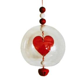 "Creativity kit - design Christmas tree ornament ""Heart ball"""