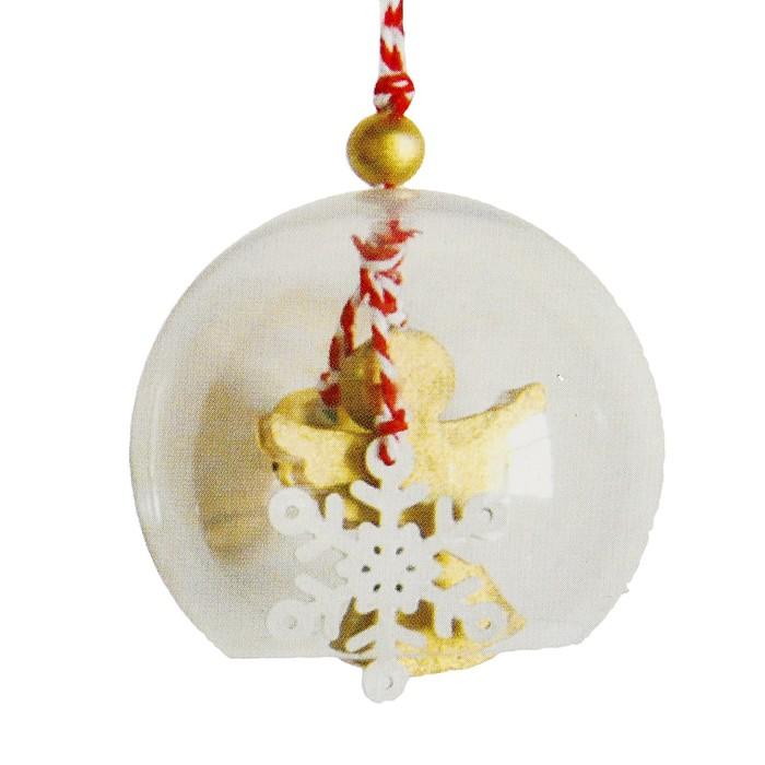 Набор для творчества - создай ёлочное украшение «Ангел со снежинкой в шаре»