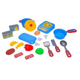 Набор посуды «Готовь со вкусом» с плитой и продуктами, в пакете