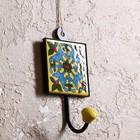 "Крючок керамика, железо ""Желание"" 8х6х15 см"