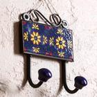 "Крючки пара ""Цветы"" керамика, железо 10х5,5х13 см"