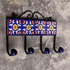 "Крючки керамика, железо ""Классика"" (4 крючка) 20х5х13 см"