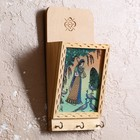"The housekeeper ""of Meline"" wood,metal,textile,sand,glass 5х11х22,5 cm"