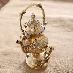 "Чайник на горелке латунь ""Сказка"" 12х13,5х23 см"