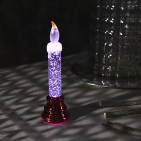 """Фигура световая """"Свеча на ветру красная"""", 17х5х5 см, от бат. 3хAG10, RGB"""