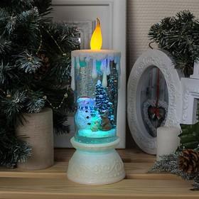 "Фигура световая свеча ""Снеговик"", 26х10х10 см, от бат. 3*АА(не в компл.), RGB"