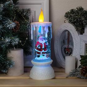 """Фигура световая свеча """"Дед мороз"""", 26х10х10 см, от бат. 3*АА(не в компл.), RGB"""