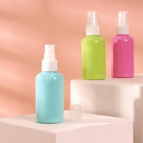 Bottle d/storage with spray 75ml COLOR d4*11.5 cm MIX