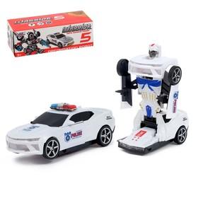"""Робот-трансформер """"Полицейский"""", в упаковке"""