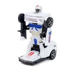 Робот «Полицейский», трансформируется, световые и звуковые эффекты, работает от батареек - фото 105504612